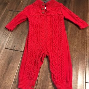 Baby Gap Boys Cable Knit One Piece
